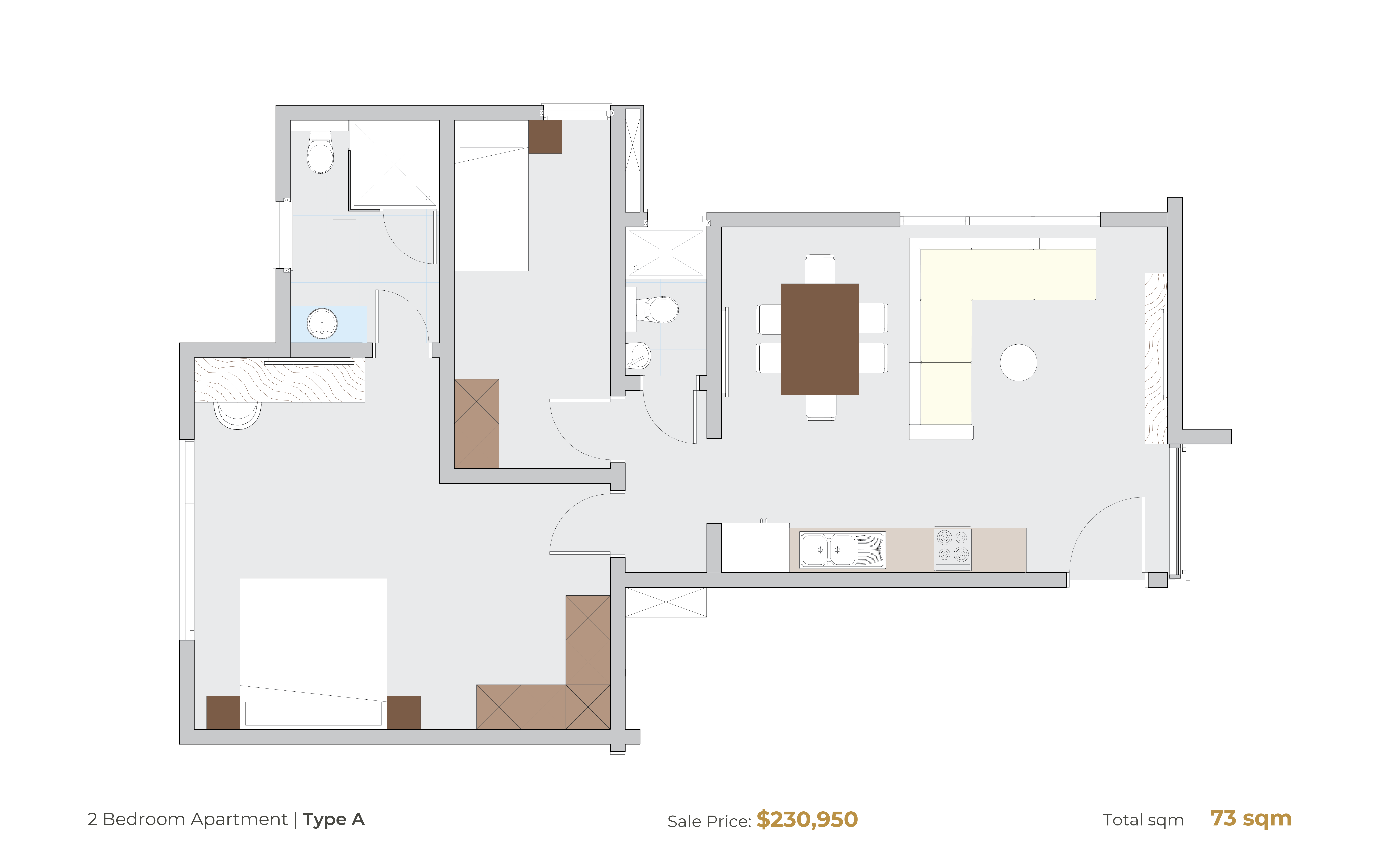 2 Bedroom Type A [Hammond Court]-01